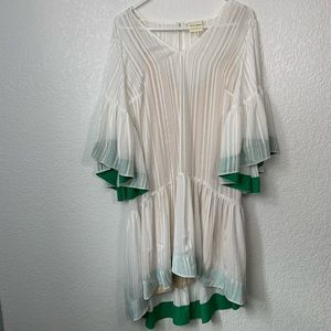 Anthropologie Tracy Reese White Bell Sleeve Dress